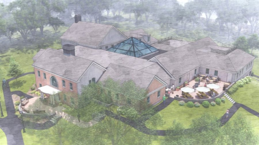 Rendering of the Renovated Peter Marshall French Student Center