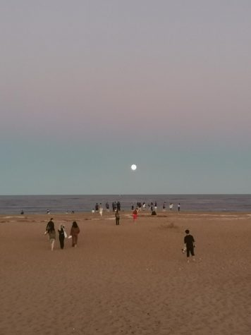 The Moon From the Beach